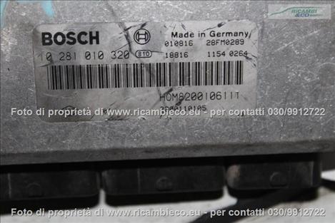 Opel VIVARO (99>06<)(06>13<) Centralina iniezione 1.9 CDTI BOSCH 0281010320 #4