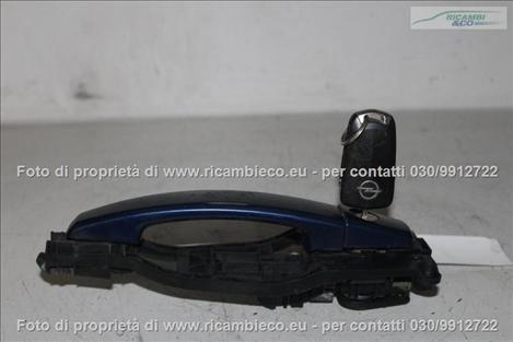 Opel ASTRA H (04>07<)(07>10<) Maniglia porta ant. + chiave (c/ cilindr)  #4